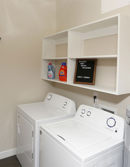 Full Size Washer & Dryer in every Apartment